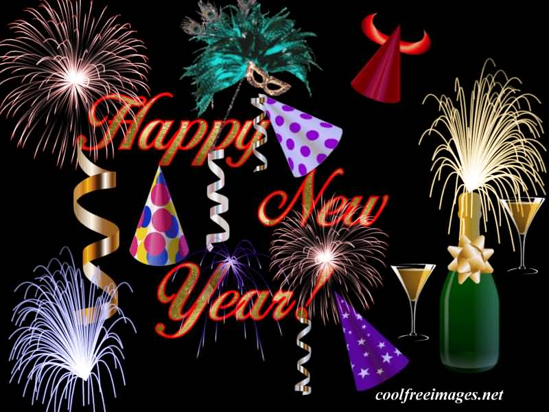 Happy New Year Celebrating Image