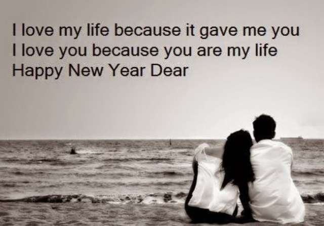 Happy New Year Dear I Love Wishes Message Image