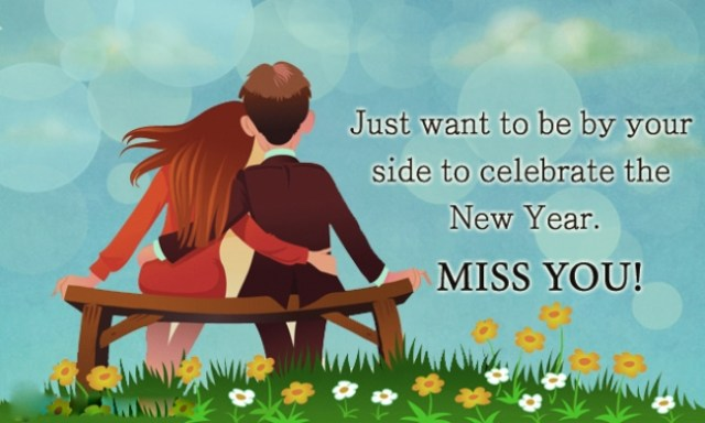 Happy New Year Miss You Wishes Image