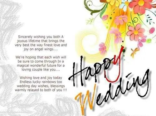Happy Wedding Message Greeting Image