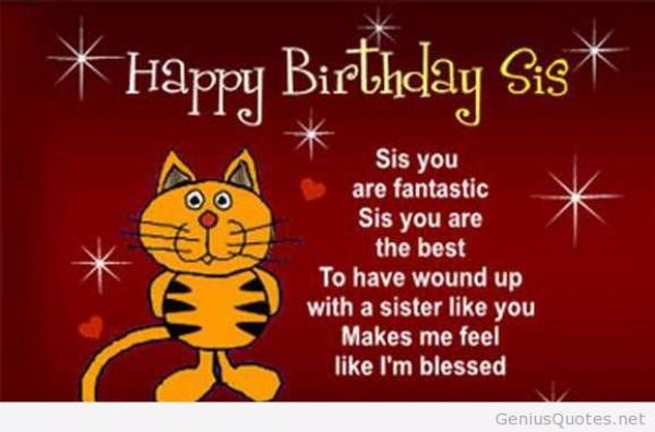 Have A Great Birthday Sis Wishes Image