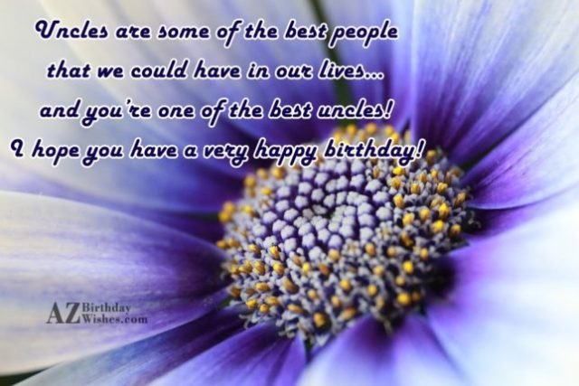 Have A Very Happy Birthday Dear Uncle Wishes