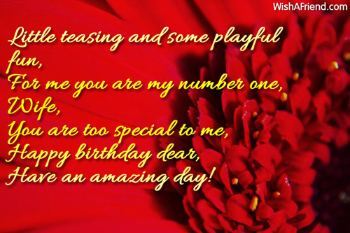 Have An Amazing Day Happy Birthday Dear Wife Greeting Quotes