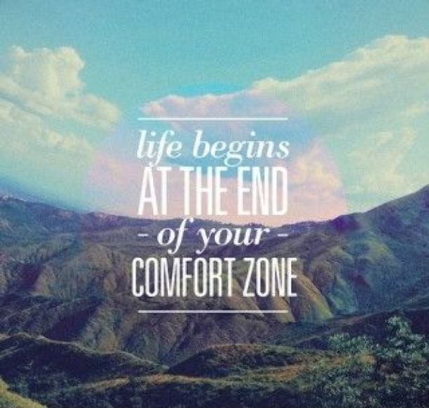 Hipster Quotes Life begins at the end of your comfort zone