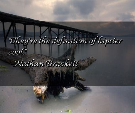 Hipster Quotes They're the definition of hipster cool Nathan Brackett