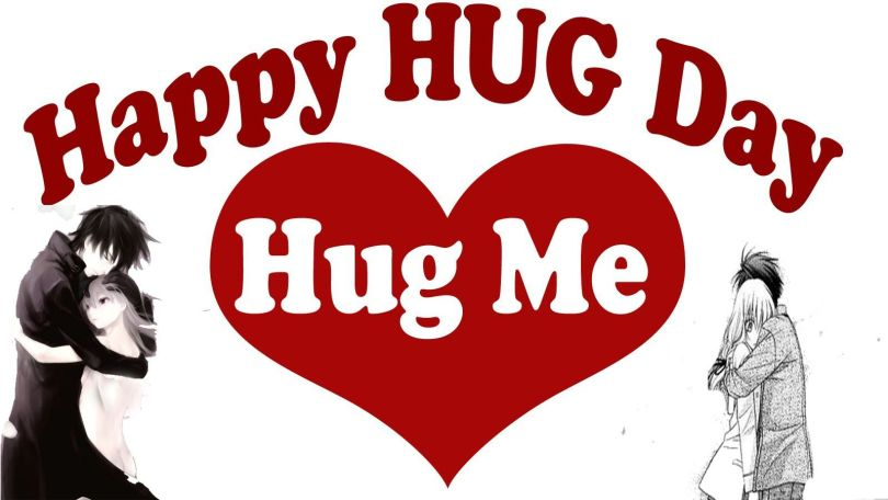 Hug Me Happy Hug Day Wishes Picture