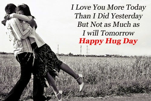 I Love You More Today Happy Hug Day Greetings