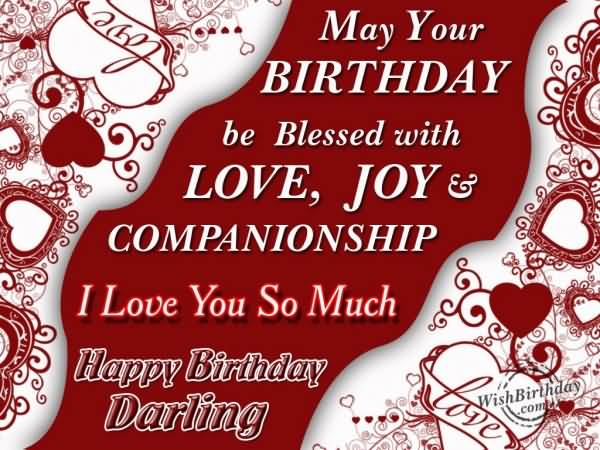 I Love You So Much Happy Birthday Darling Greeting Image