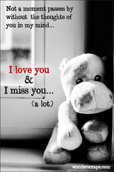 I Miss You A Lot I Love You Teddy Wallpaper