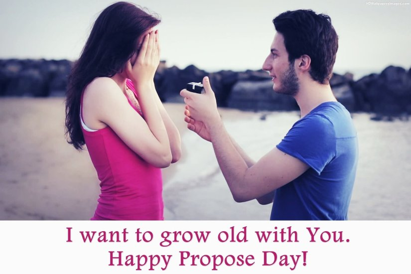 I Want To Grow Olg With You Happy Propose Day Greetings Wallpaper
