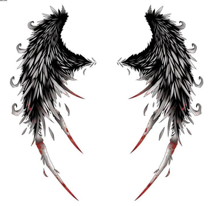 Incredible Wings Tattoo Design Sample