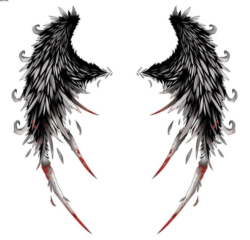 Incredible Wings Tattoo Design Sample