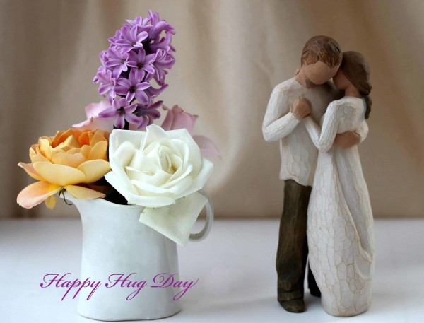 Incredible Wishes On Hug Day Greeting Image