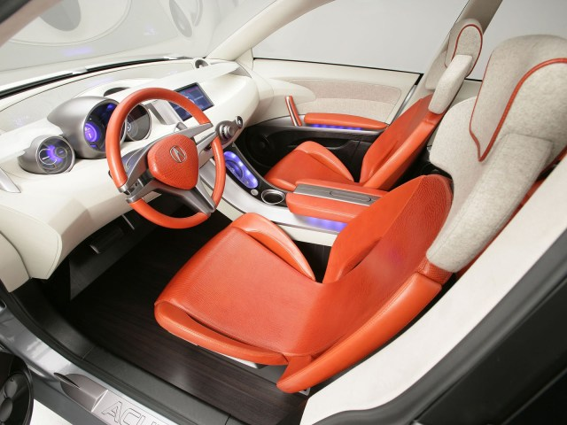 Inner seat view of beautiful silver Acura RDX Concept Car