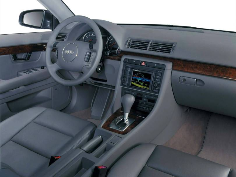 Interior view of beautiful Audi A4 Car