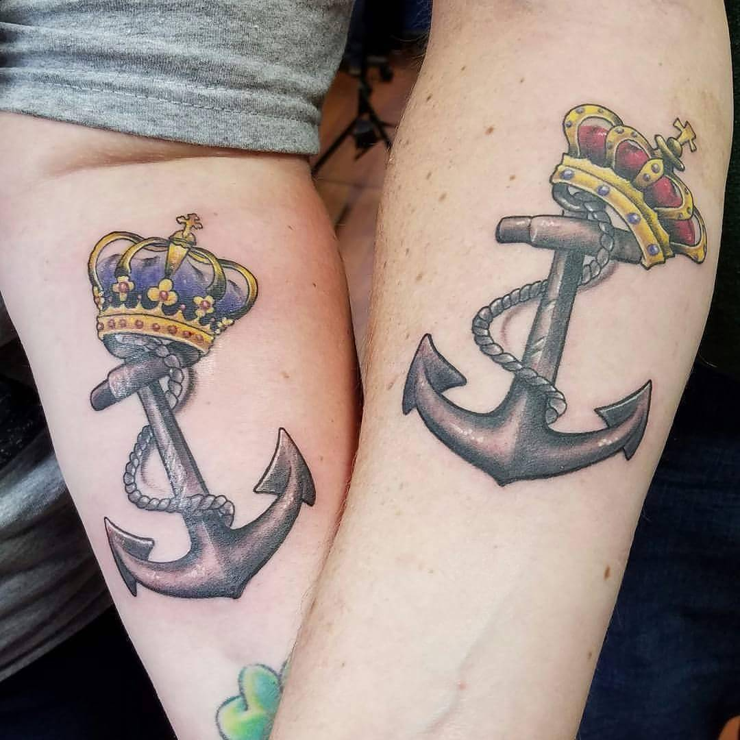 King and queen crown tattoos for King queen tattoos