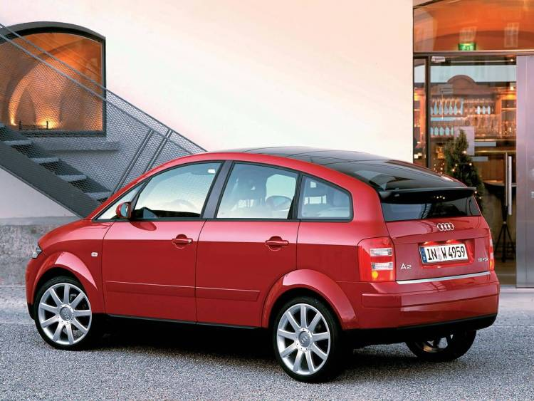 Left side of red latest Audi A2 Car
