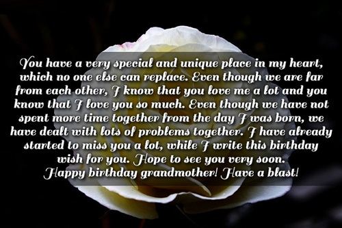 Long Birthday Message For Grandma Greeting Image