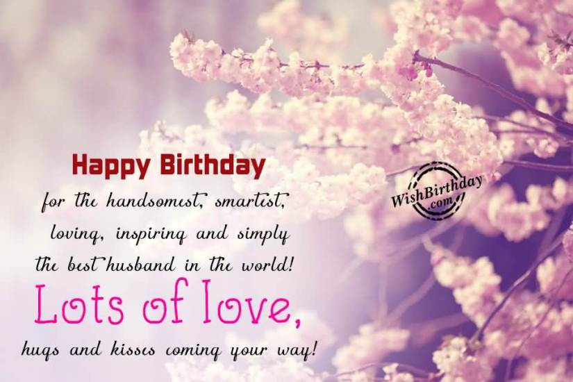 Lots Of Love Hugs And Kiss Happy Birthday Dear Husband Wishes Image