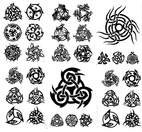 Lovely Black Color Ink More Celtic Tattoo Designs For Girls