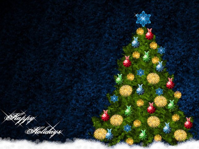 Lovely Greetings Happy Holiday Wishes Image