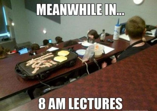 Meanwhile In 8 Am Lectures Funny WTF Memes