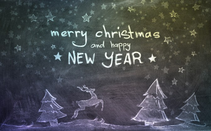 Merry Christmas And Happy New Year Wishes Wallpaper