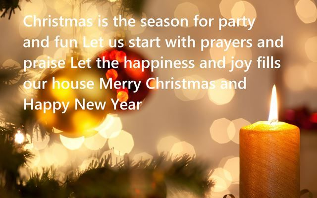 Merry Christmas Greetings & Happy New Year Wishes
