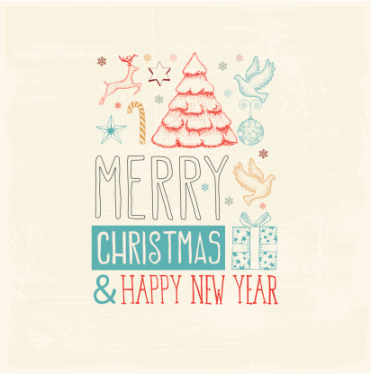 Merry Christmas & Happy New Year Lovely Greetings Image