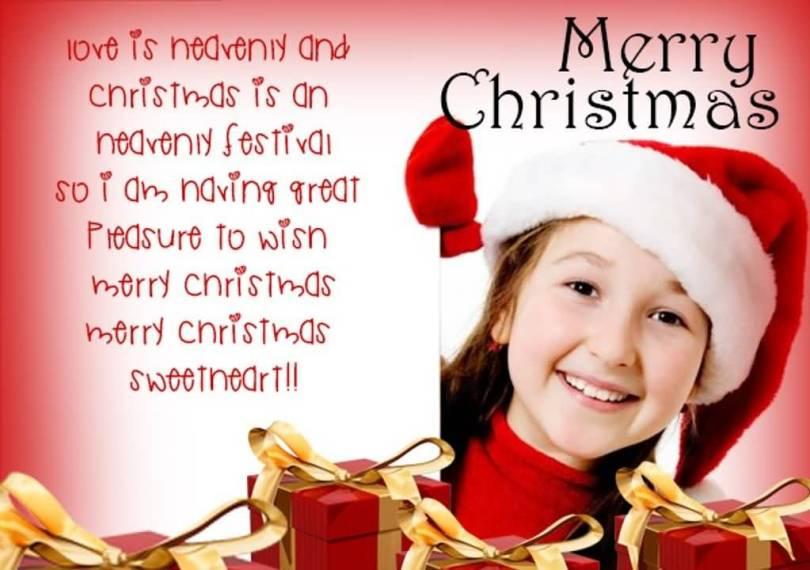 Merry Christmas To Sweetheart