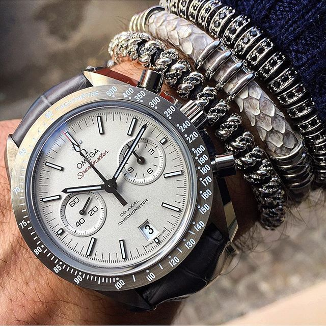 Mind Blowing Omega Watch With Platinum Bracelet For Boys
