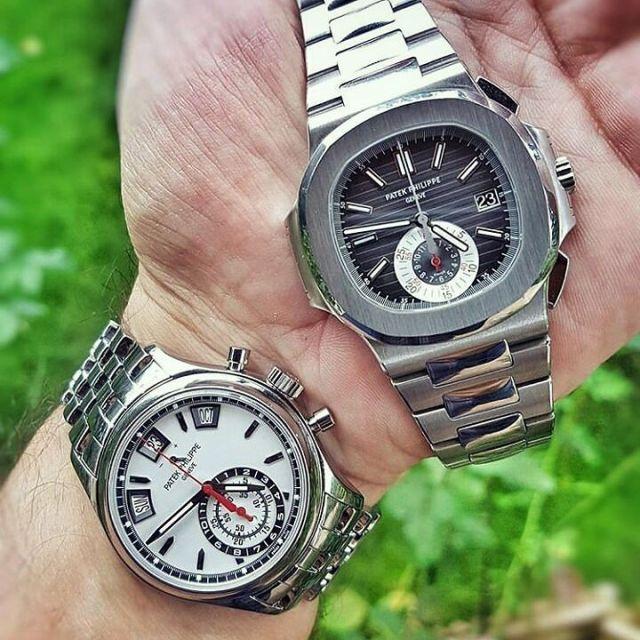 Mind Blowing Silver Patek Philippe Watch Set For Men