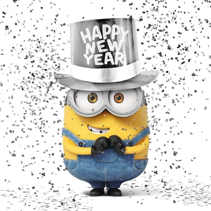 Minion Wishes Happy New Year Image