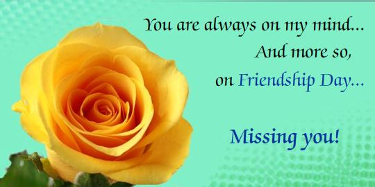 Missing You Flower Greeting Image