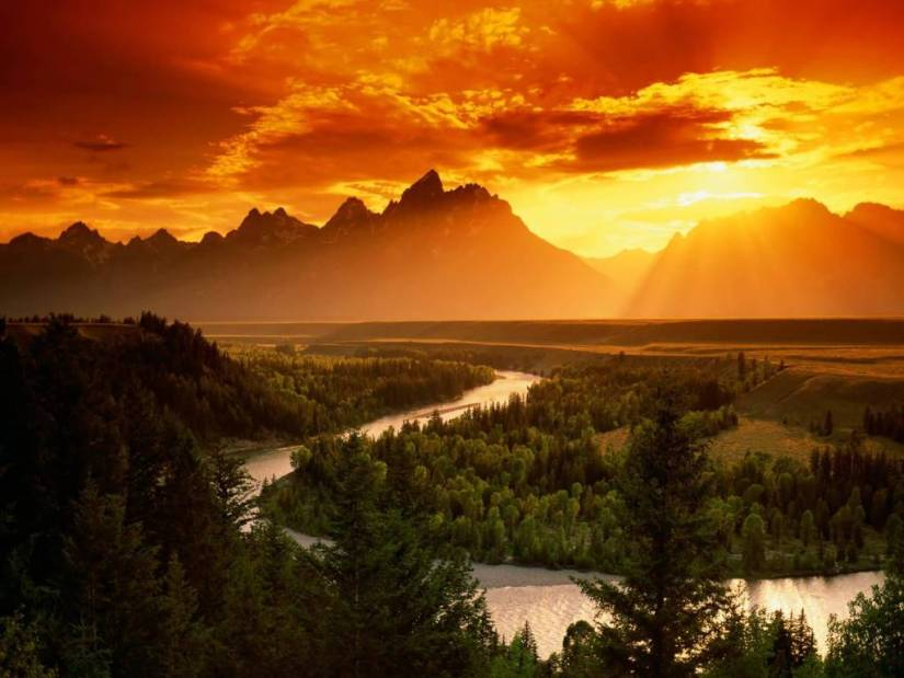 Most Fabulous Snake River Grand Teton National Park Wyoming 4K Wallpaper