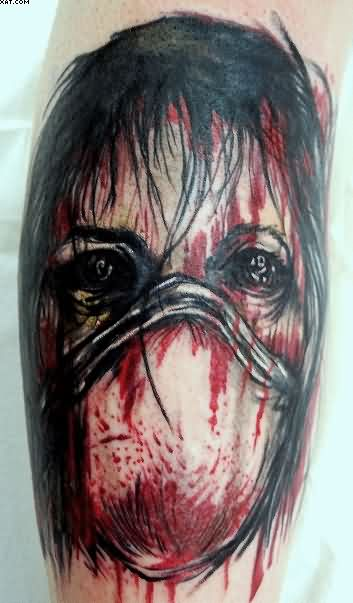 Most Incredible Maniac Zombie Tattoo
