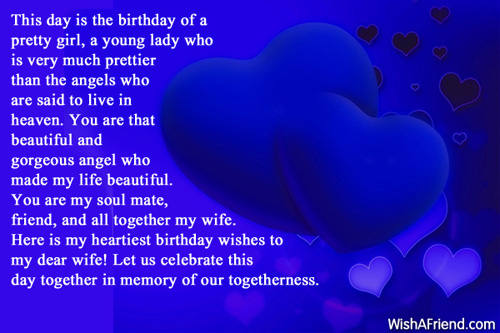 My Dear Wife Let Us Celebrate This Day Together In Memory Happy Birthday Wifey