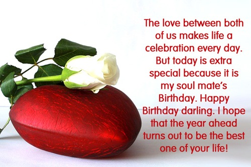 My Soul Mate's Birthday. Happy Birthday Darling