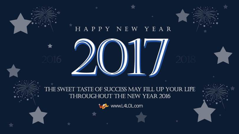 New Year 2017 The Sweet Taste Of Success Wishes Image