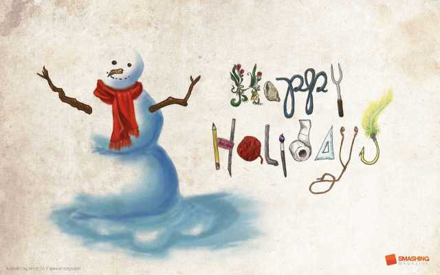 Nice Happy Holiday Wishes Card Image