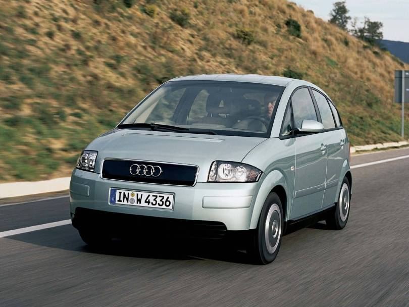 On the road of lovely Audi A2 Car