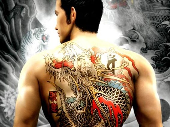 Realistic Black Red And Blue Color Ink Asian Dragon Tattoo For Your Back For Boys