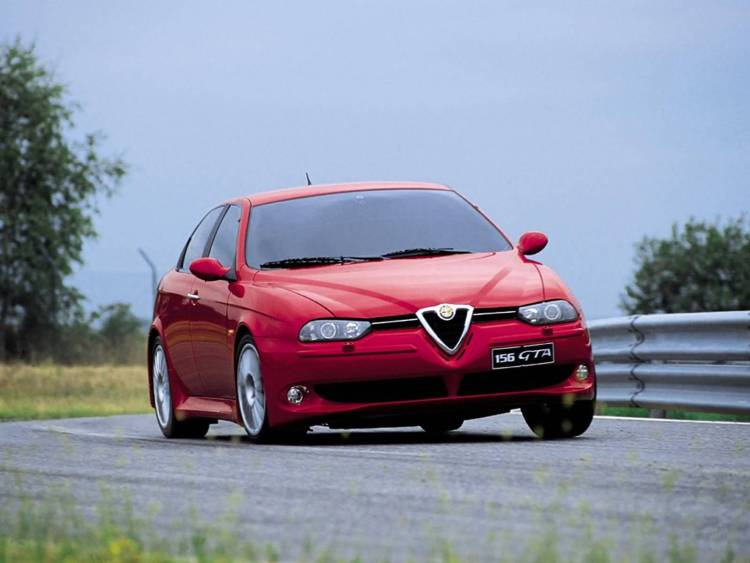 Red color Alfa Romeo 156 GTA Car on the road