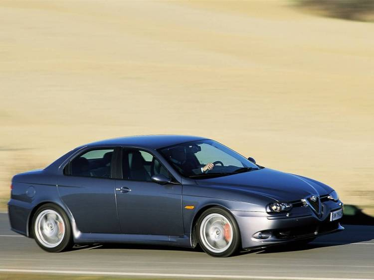 Right side of black wonderful Alfa Romeo 156 GTA Car