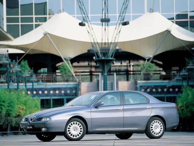 Right side of silver colour Alfa Romeo 166 Car