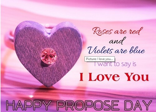 Rose Are Red And Violets Are Blue I Want To Say Is I Love You Happy Propose Day