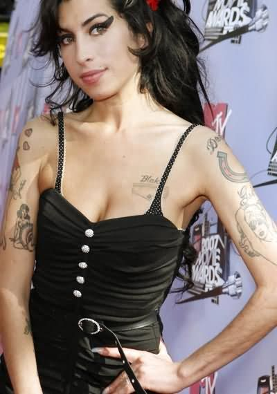 Sensation Black Color Ink Army Tattoo On Celebrity Body For Girls Tattoo