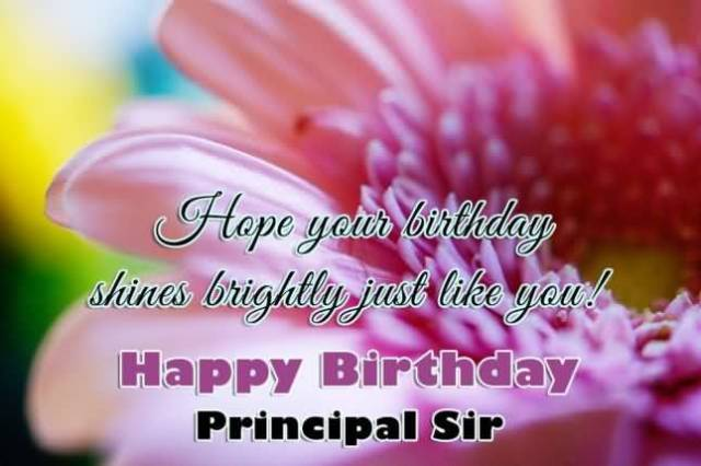 Shines Brightly Just Like You Happy Birthday Principal Sir Wonderful Birthday Greeting Image