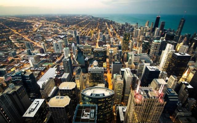 Simple Chicago USA Full HD Wallpaper