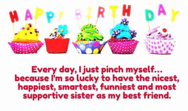 Sister As My Best Friend Happy Birthday Message Wishes Image